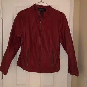 Red Faux Leather Jacket size 14/16